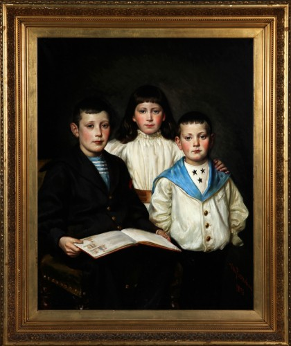 The beautiful family, dated 1896 - Wilhelm ROSENSTAND (1838-1915) -