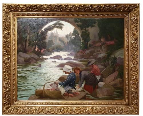 The Washerwomen - Paul-Antoine Hallez (1872-1965)