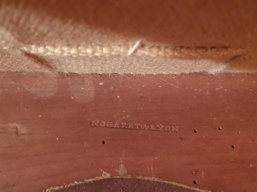 Antiquités - Pair of large Louis XV armchairs by Nogaret