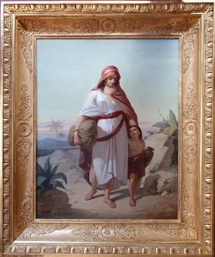 Hagar and Ismael - Enrico FANFANI  ( 1824 – 1885)