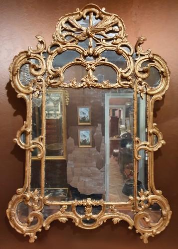 Louis XV giltwood mirror - Mirrors, Trumeau Style Louis XV