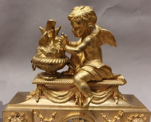 Paire de chenets d'époque Louis XVI - Decorative Objects Style Louis XVI