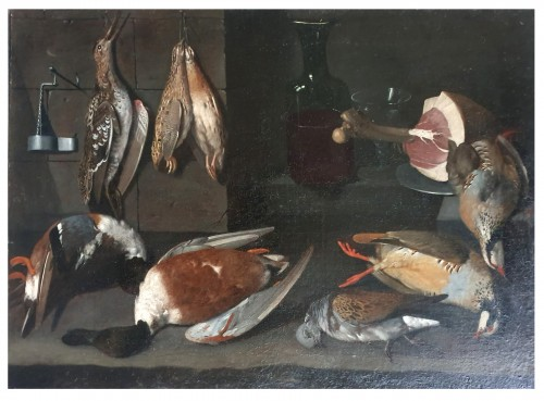 Still life with birds 17th century, attributed to Albrecht Kauw