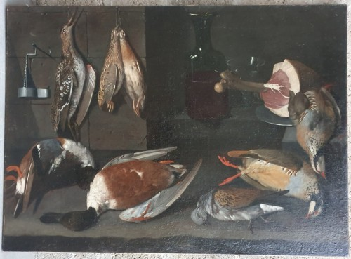 Still life with birds 17th century, attributed to Albrecht Kauw -