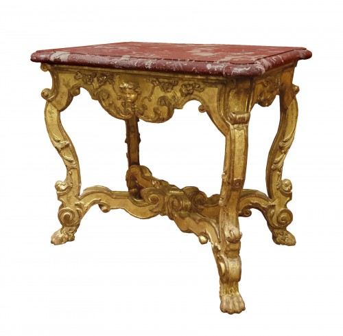 Table in gilded and carved wood
