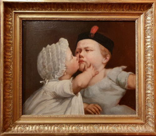 Le baiser enfantin - Jacques–Eugène Feyen (1815 – 1908)