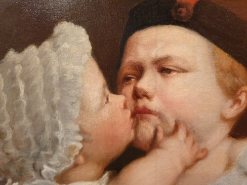 Le baiser enfantin - Jacques–Eugène Feyen (1815 – 1908) - Paintings & Drawings Style