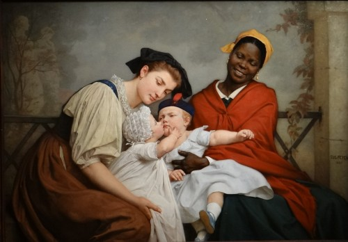 Le baiser enfantin - Jacques–Eugène Feyen (1815 – 1908) -