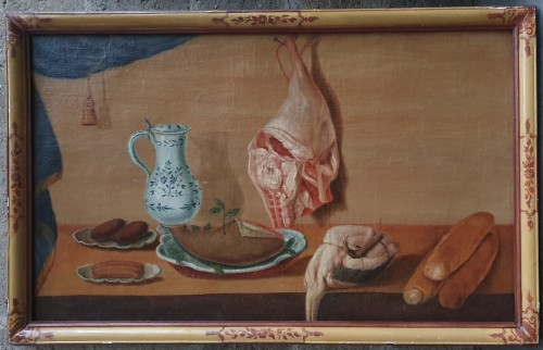 Pair of still life paintings - French school of the 18th century - Paintings & Drawings Style