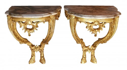 pair of italian consoles - 18th century