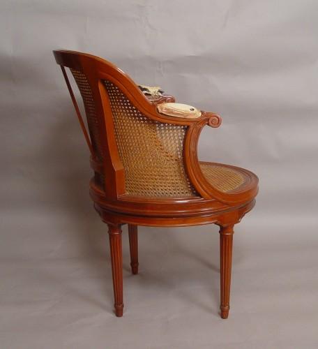 desk armchair stamped henri jacob - Seating Style Louis XVI