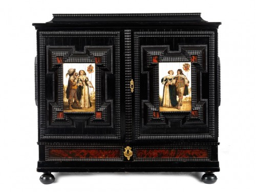 Cabinet flamand du 17e siècle - Mobilier Style Louis XIII