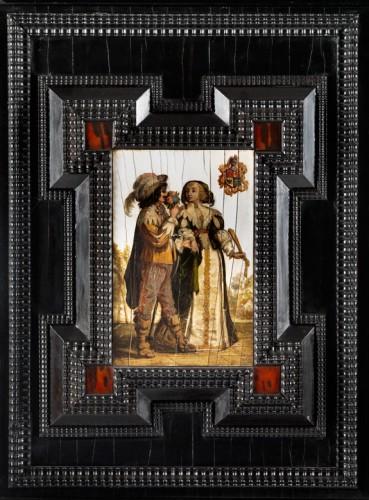 Antiquités - flemish cabinet 17th century