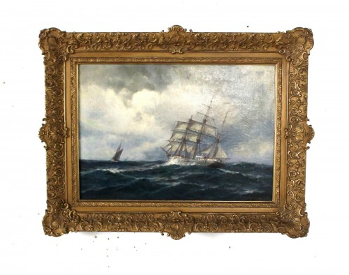 two topsail boat mast signed herpich