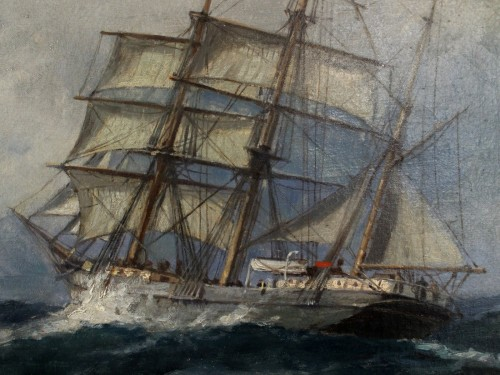 two topsail boat mast signed herpich -