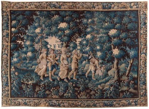 Celebrating the arrival of summer - 17th century Aubusson tapestry