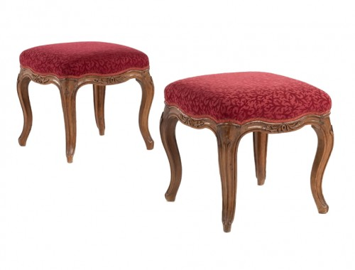 pair of stools - Genoa - 18th century