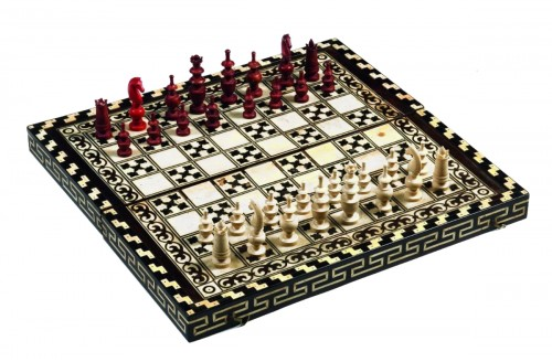 backgammon and chess box -indo-portuguese work end of 18th century