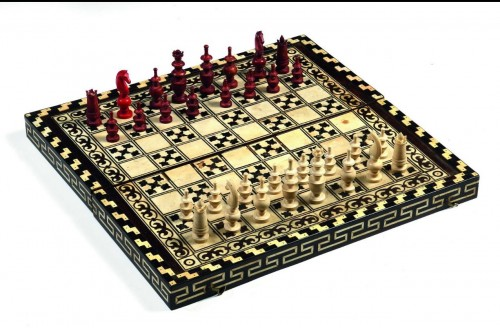 Curiosities  - backgammon and chess box -indo-portuguese work end of 18th century