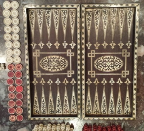 18th century - backgammon and chess box -indo-portuguese work end of 18th century