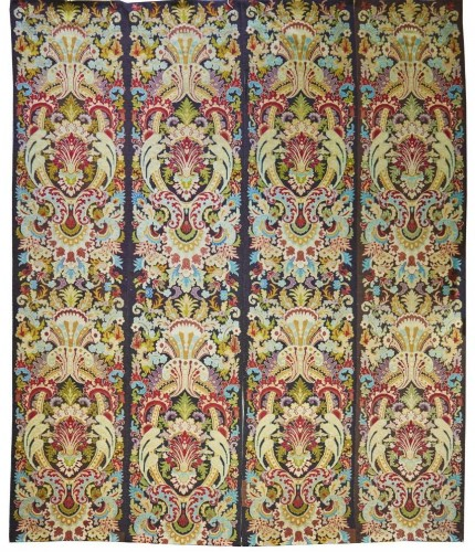 set of four tapestry panels