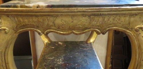 table with three marble tops Regence period -