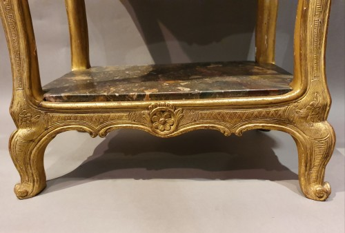 18th century - table with three marble tops Regence period