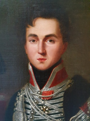 Portrait of Alphonse de Burgat (1788 - 1841) line infantry captain - Paintings & Drawings Style Empire