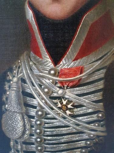 Paintings & Drawings  - Portrait of Alphonse de Burgat (1788 - 1841) line infantry captain