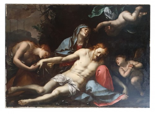 Pieta - Attributed to Giovanni Stefano Danedi dit Il Montalto - 17th century