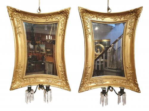 pair of reflector wall lights - 19th century