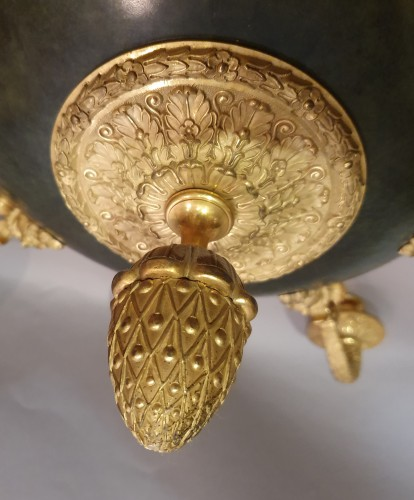 nine light chandelier - empire period - Empire