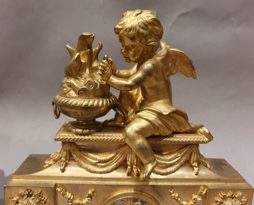 pair of andirons Louis XVI period - Decorative Objects Style Louis XVI