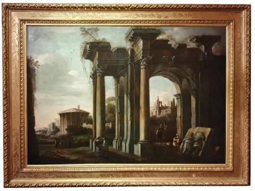 italian capriccio ed to Giovani GHISOLFI (1623 - 1683)
