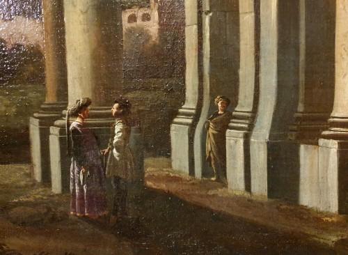 italian capriccio ed to Giovani GHISOLFI (1623 - 1683) - Paintings & Drawings Style