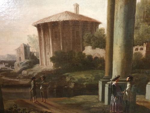 italian capriccio ed to Giovani GHISOLFI (1623 - 1683) -