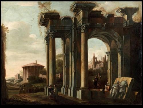 17th century - italian capriccio ed to Giovani GHISOLFI (1623 - 1683)
