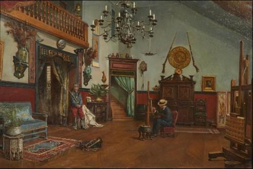 studio of painter Etienne-Prosper Berne-Bellecour - Paintings & Drawings Style