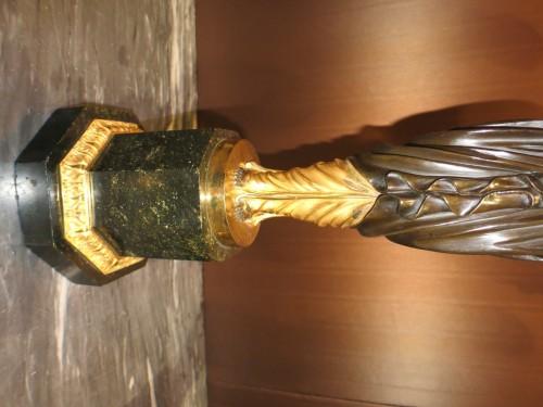 Paire de candélabres aux vestales attribuée à Galle - 19e siècle - Lighting Style Empire
