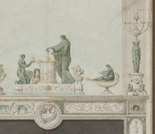 19th century - Paire de candélabres aux vestales attribuée à Galle - 19e siècle