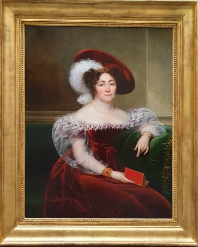 portrait of an aristocrat signed Kinson - around 1825