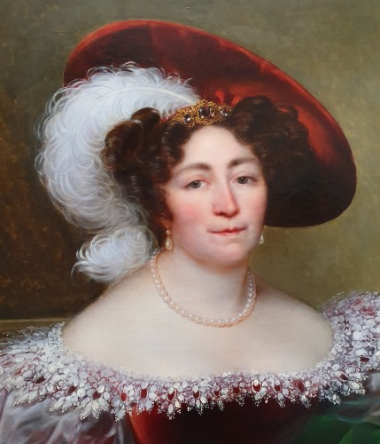 portrait of an aristocrat signed Kinson - around 1825 - Paintings & Drawings Style