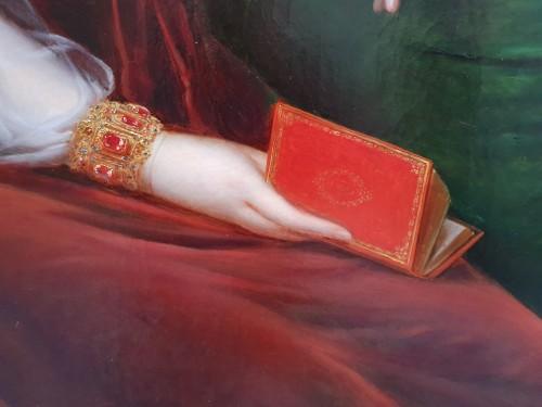 portrait of an aristocrat signed Kinson - around 1825 -