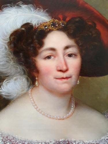 19th century - portrait of an aristocrat signed Kinson - around 1825