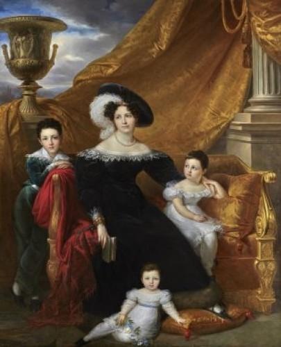 - portrait of an aristocrat signed Kinson - around 1825