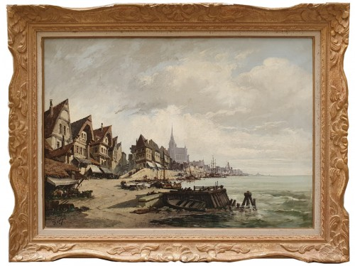 Nantes harbour - Etienne Galien – Laloue (1854 – 1941)