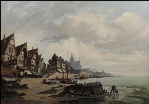 Nantes harbour - Eugène Galien – Laloue (1854 – 1941)  - Paintings & Drawings Style