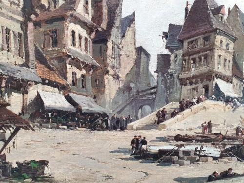 Paintings & Drawings  - Nantes harbour - Eugène Galien – Laloue (1854 – 1941)