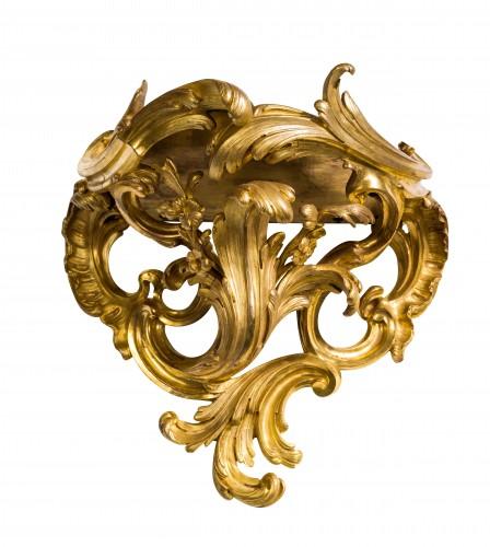 Console d'appliqueen bronze doré d'époque Louis XV - Furniture Style Louis XV