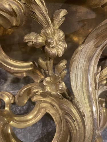 18th century - Console d'appliqueen bronze doré d'époque Louis XV